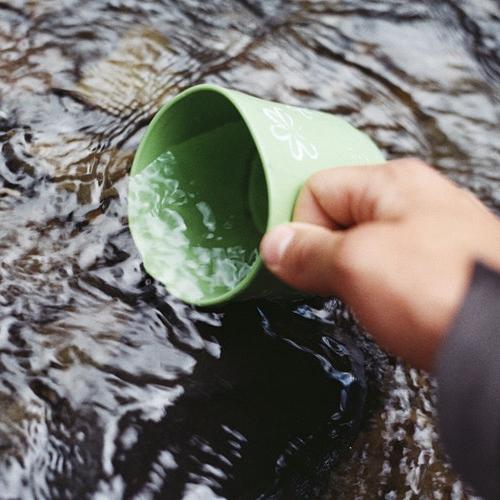 outdoor geschirr waschen